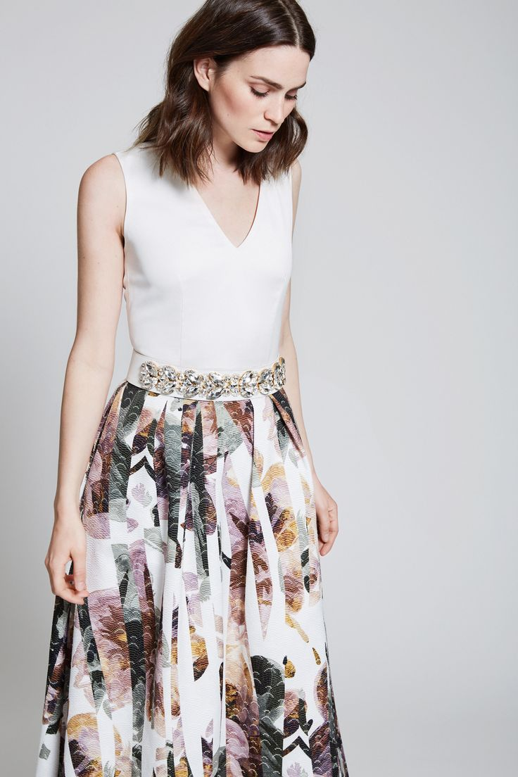mix and match your perfect dress - magnolia skirt with ivory top - lovely combination - civil wedding dress ideas