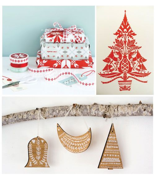 Folklore Christmas and great gift wrapping