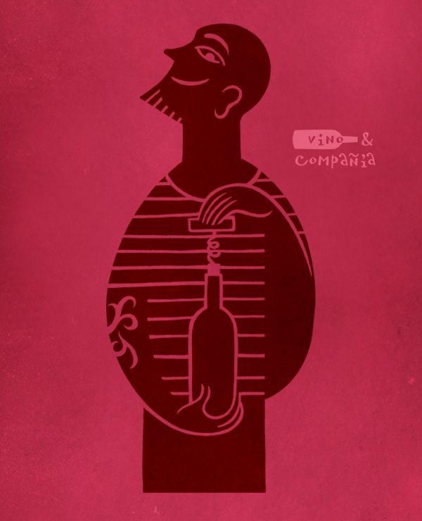 Mostaza Design   Vino & Compañía   Madrid   Wine Shop   Characters by David de Ramón   #retaildesign #mostazadesign #wine #shop #vinoycompañia #interiordesign #interiors #retail #illustration #branding