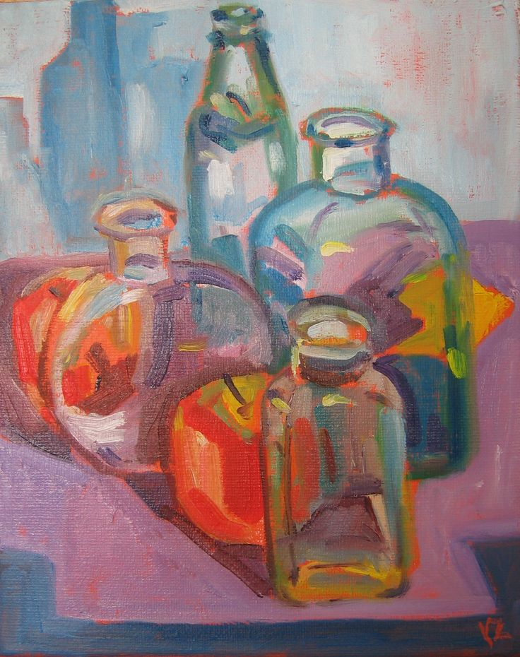 """""""Hide and Seek""""  Oil on stretched canvas 8"""" x 10"""""""