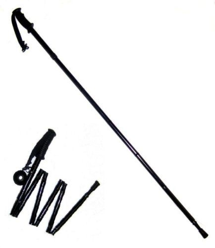 Folding Collapsible Trekking Hiking Pole. Compact. . . Collapsible . . . Easy to carry.   Folds down to only 12'.Adjustable height 49'-53' for tall stature users.  Please measure for your height requ...