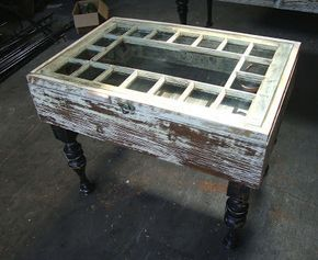 Black Dog Salvage - Architectural Antiques & Custom Designs: Window Frame Coffee Table made by Salvage Dawgs father/daughter Mike and Grace ...
