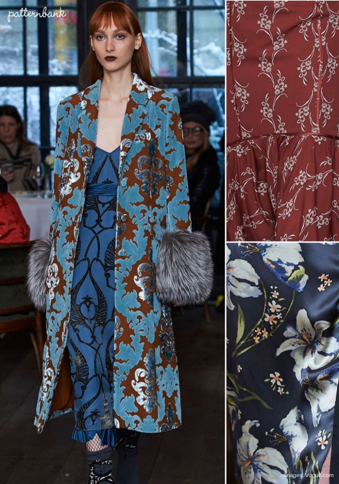 Cinq à Sept - Fall 2017 - RTW - New York Fashion Week - Print & Pattern Highlight | PatternbankLook out for this season's colour palette… We're in love with Cinq à Sept's Fall 2017 New York Fashion Week - Print & Pattern Highlight
