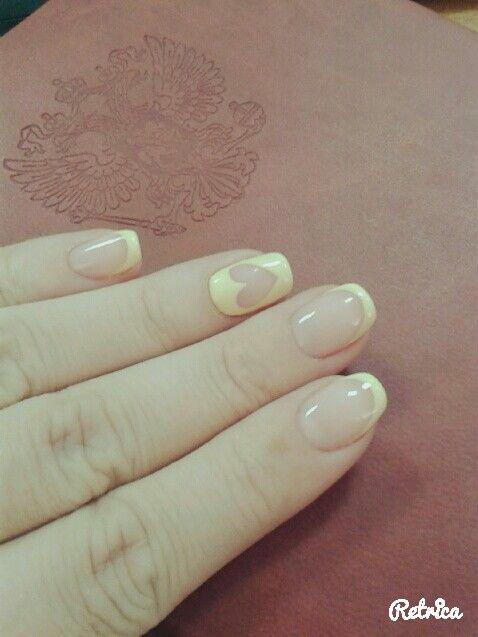 Фрэнч,нежно желтый с любовью ♥