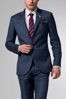 The Superhero Blue Pinstripe Suit