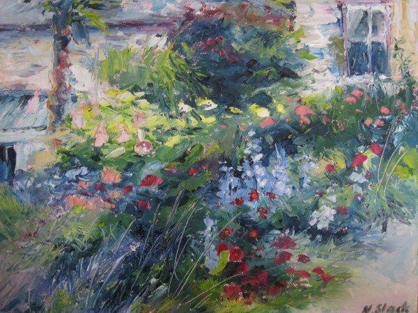 'September Sunshine, Helen Dillon Garden' www.niamhslack.com