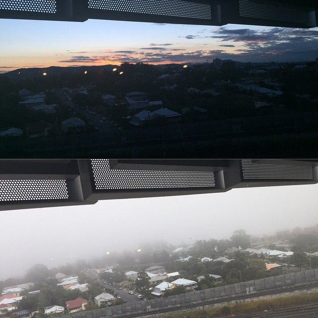 TRI before and after the Brisbane fog June 2015. Translational Research Institute, Brisbane, Australia. Visit www.tri.edu.au to keep up to date with news from our facility and researchers.