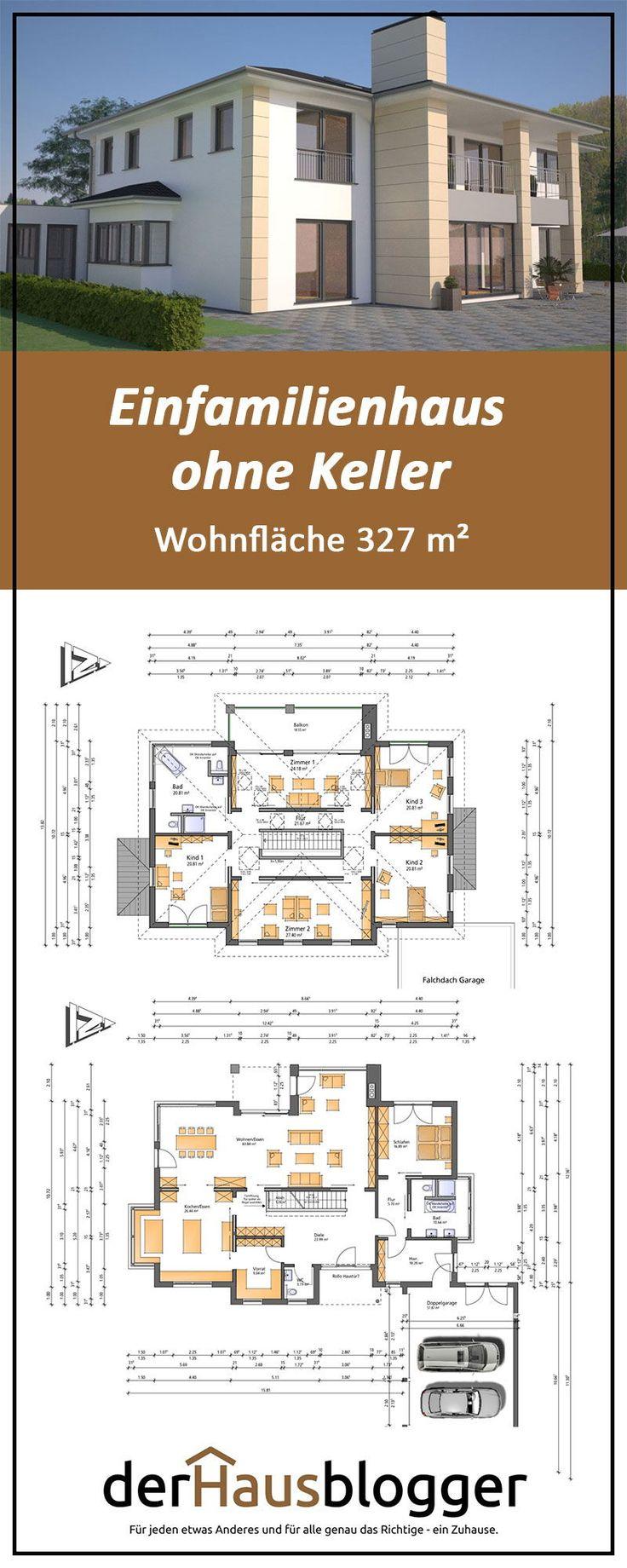 Einfamilienhaus ohne Keller, Wohnflaeche 327 m2 #keller