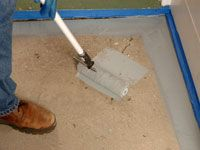 How to Paint Concrete Floors - For Dummies primer/sealer to hide stains