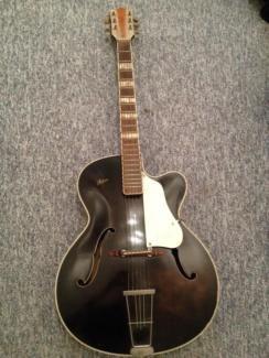 Höfner Archtop Schlag Gitarre 458 Bj. 1959 oder früher Schwarz in Schleswig-Holstein - Flensburg | Musikinstrumente und Zubehör gebraucht kaufen | eBay Kleinanzeigen