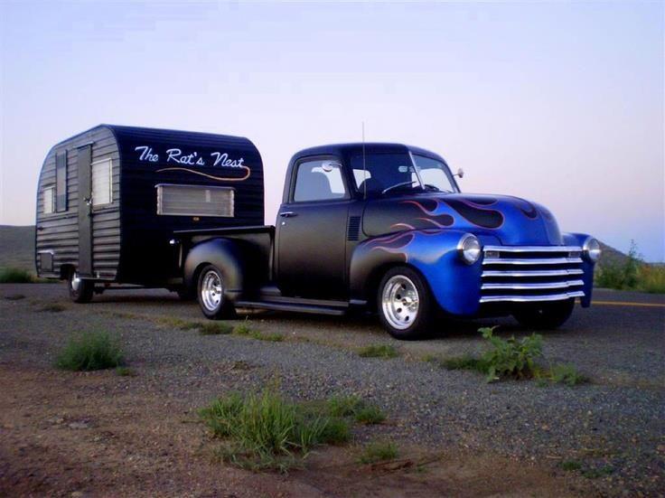 Flat Black Nice My Truck Build Camper Vintage