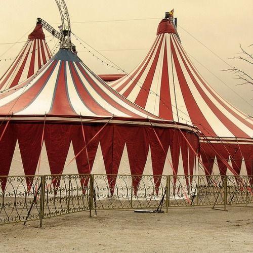 O circo chegou (em vermelho e branco)