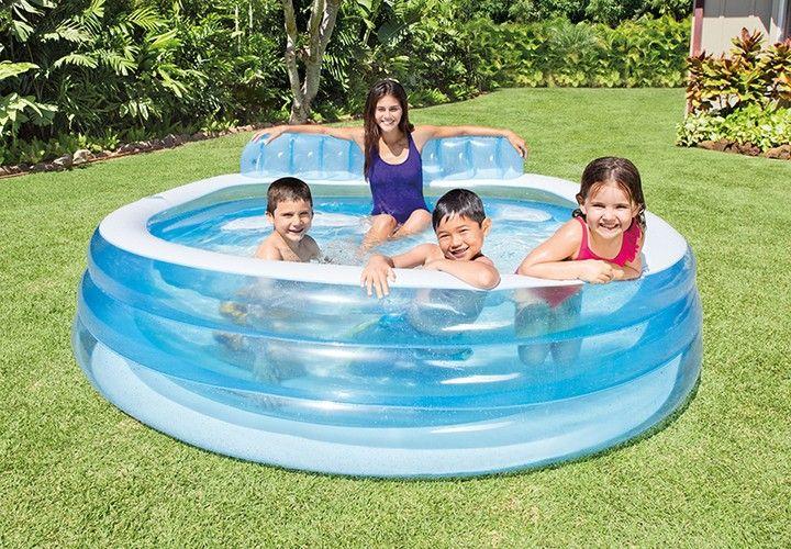 Basen Dmuchany Ogrodowy Z Laweczka Intex 57190 7363444413 Oficjalne Archiwum Allegro Family Lounge Pool Inflatable Swimming Pool Pool Lounge