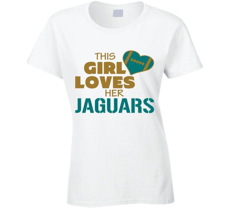 This Girl Loves Her Jacksonville Jaguars Football T Shirt