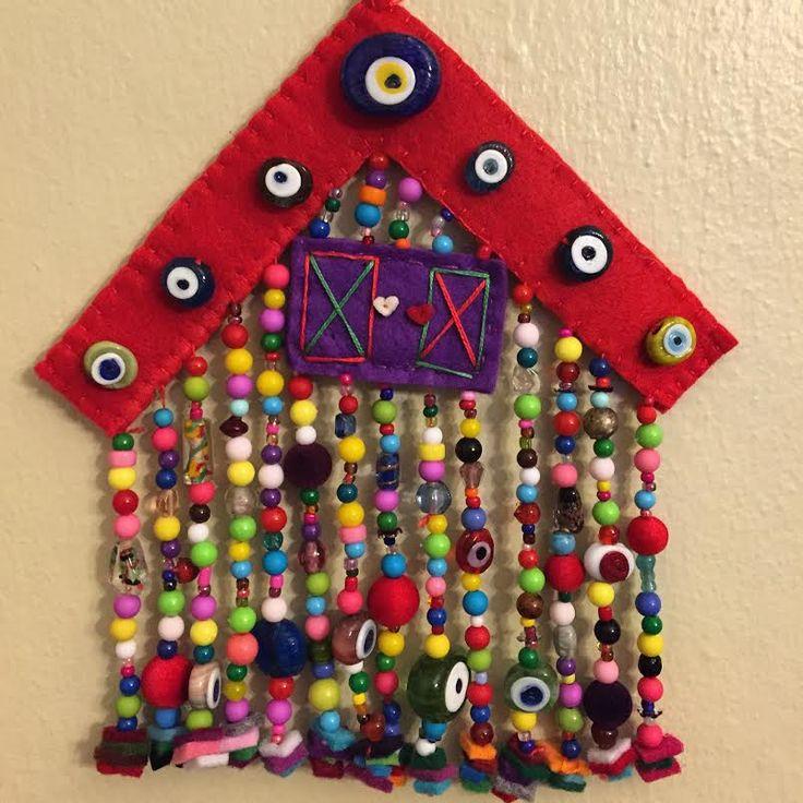 keçe nazarlık, nazarlık, amulet, keçe, felt, feltro, turkish eye