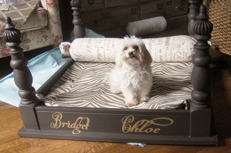Re Purposed Coffee Table Into 4 Poster Dog Bed I Used