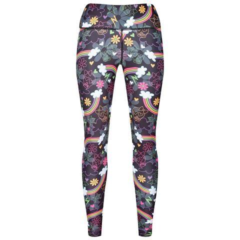 Tikiboo Skulls & Rainbows Leggings #Activewear #Gymwear #FitnessLeggings #Leggings #Tikiboo #Running #Yoga