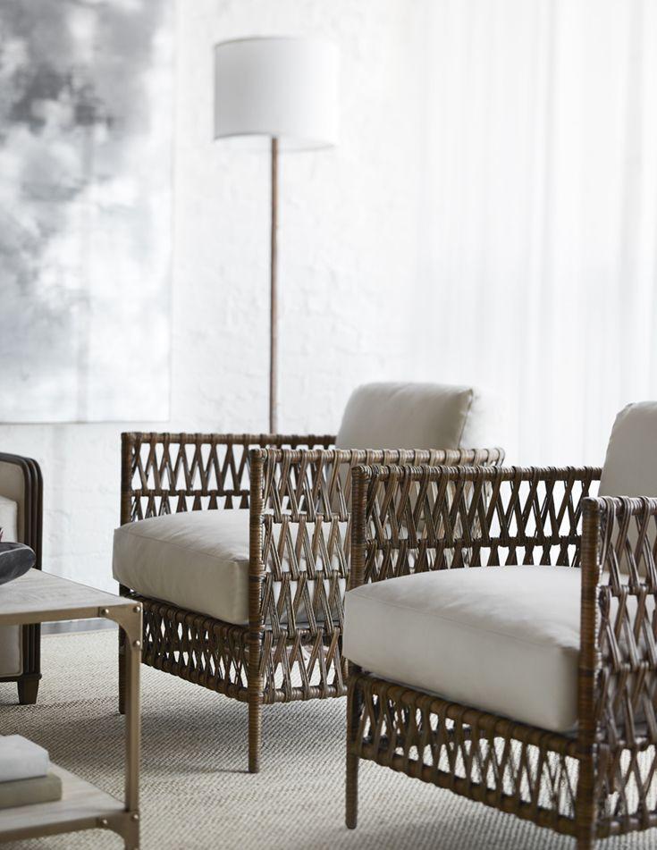 Palecek Savoy Lounge Chair Powder Coated Metal Frame And