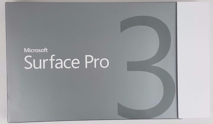 Microsoft Surface Pro 3 EMPTY BOX ONLY for 64GB with Booklet #Microsoft