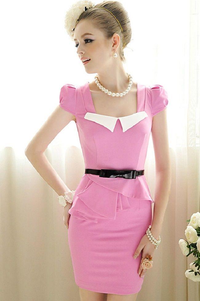 peplum dress short