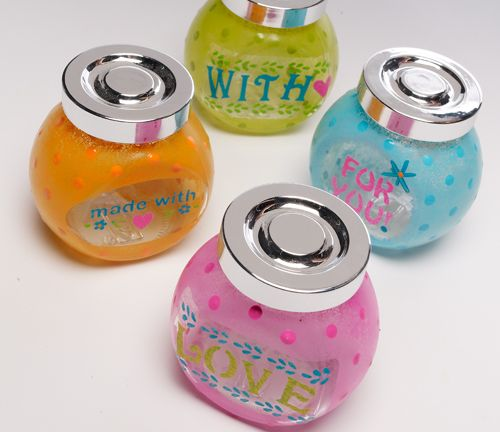 "Another actually useful Mother's Day gift idea for kids. Make the jar's one week, let dry, then at a later craft period - make something to fill the jars with, such as a homemade bubble bath or other easy ""toiletry"" item."