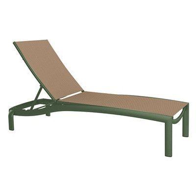 Tropitone KOR Chaise Lounge Fabric: East Wood, Finish: Woodland