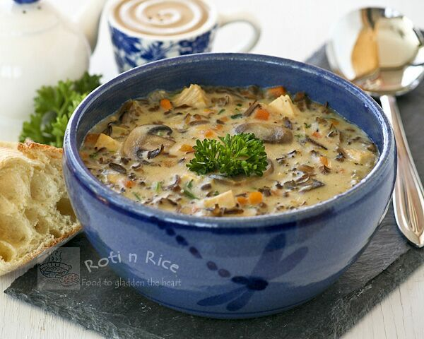 Chicken Wild Rice Soup - Roti n Rice