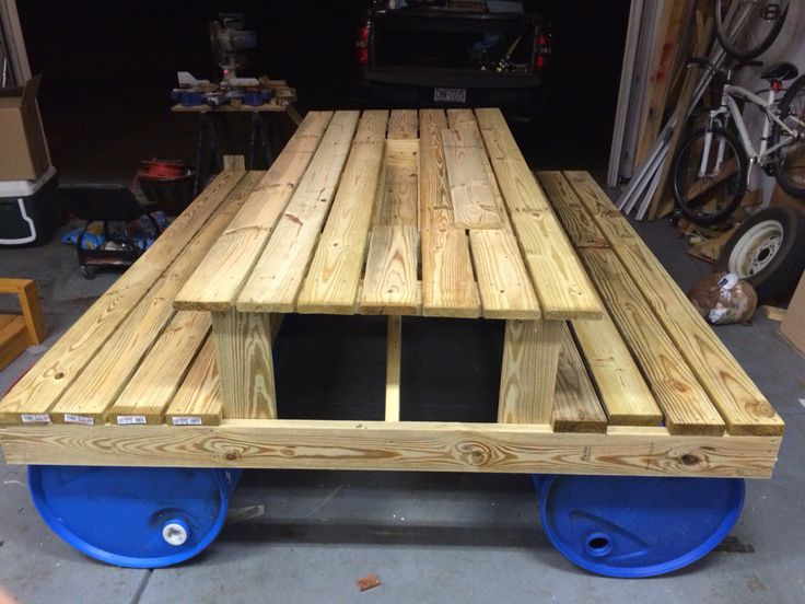 Picnic Table Project By Bsprinkle1 See More With Barrels