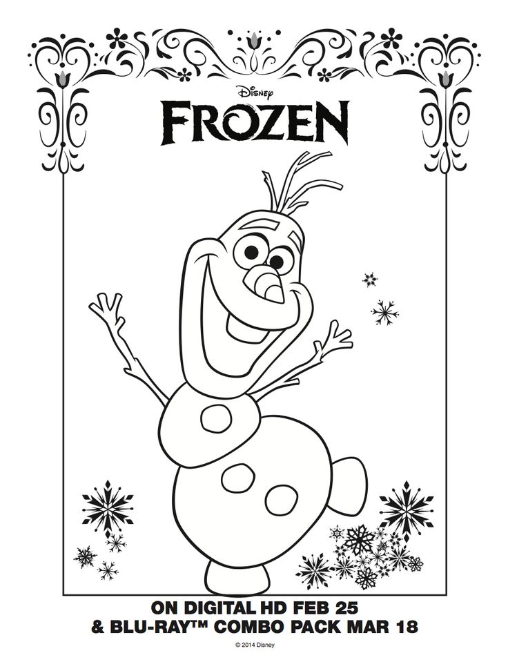 olaf coloring sheet