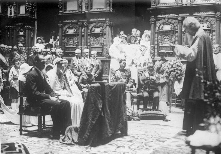 Casatoria Pricipesei Ileana cu Arhiducele Anton,Peles,Sinaia