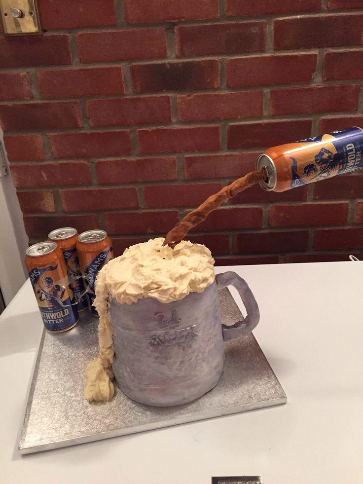 Beer tankard cake