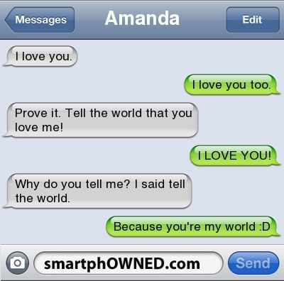 Funny i love you text messages