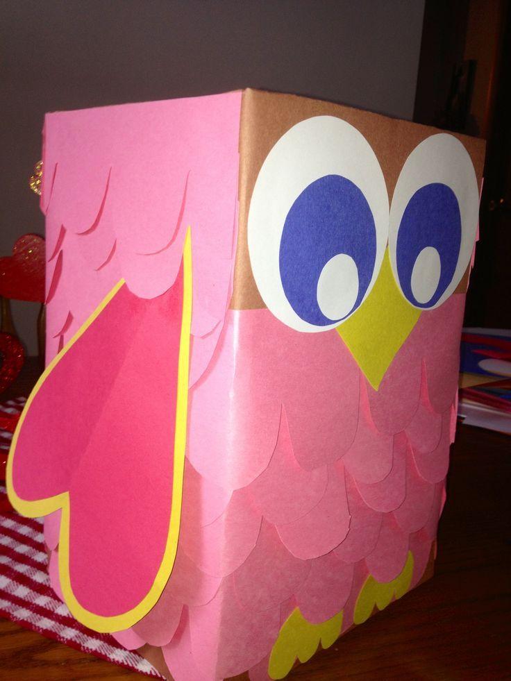 Owl Valentine box  |   Crafts and Worksheets for Preschool,Toddler and Kindergarten