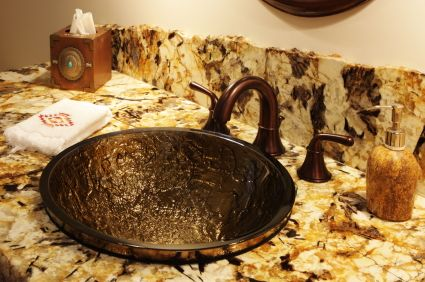 Bathroom sink and marble countertop http://www.polishgranite.co.uk/