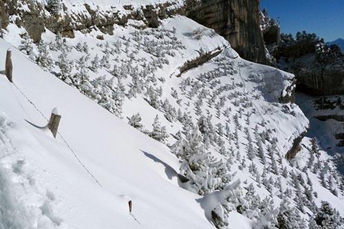 il respiro della montagna, effetto di montagna, montagna innevata