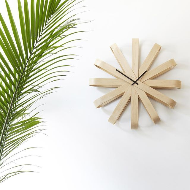 Decorate with RIBBONWOOD Wall Clock | Design by Michelle Ivankovic #umbra #clocks