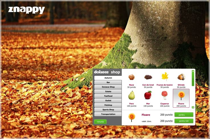 🍂🍃 Znappy prepares you for the rainy season and it has created a new collection of autumn gifts. Enter on www.doizece.ro and collect 25 gifts from each and you automatically get your own vineyard culture. 🍃🍂  #ZnappyGames #specialgift #autumngift