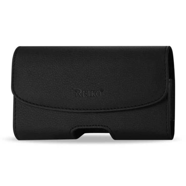 Reiko HORIZONTAL LEATHER POUCH IPHONE 6/ 6S 4.7INCH SLIM-BLACK WITH EMBOSSED LOGO INNER SIZE: 5.59X2.79X0.42 INCH