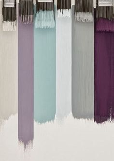 Color palate. Could be interesting for girly office or she shed. Plant some lilacs outside.