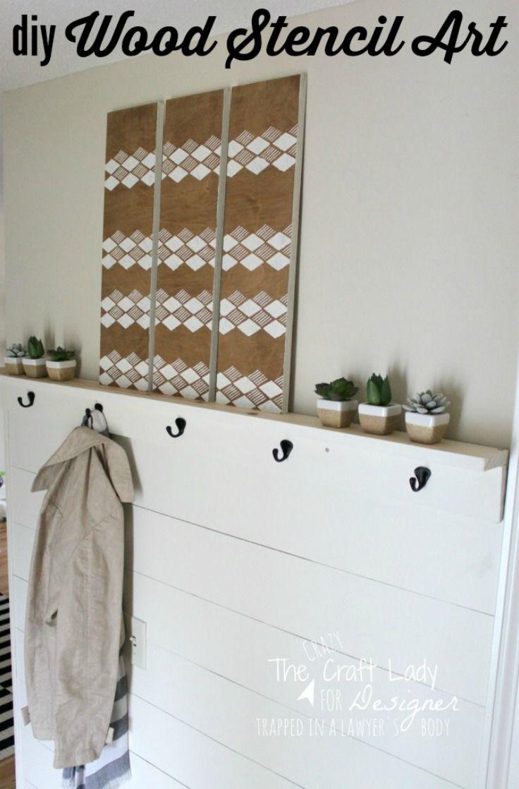 Diy Painted Stencil Bathroom Floor: 1000+ Ideas About Stencil Wall Art On Pinterest