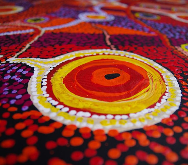 Aboriginal Artwork on canvas by Patricia Baker Tunkin Minma Marlilu Tjukurrpa PT1744