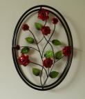 Wanddecoratie Bloemenframe rode rozen