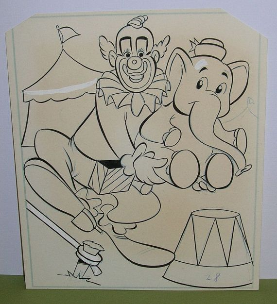 Up For Sale Is A Vintage Howdy Doody Coloring Page Description From Etsy