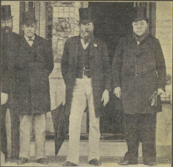 M.T. Steyn, Lord Milner, F.W.Reitz en Paul Kruger. Bloemfontein Konferensie 1899. Bron: Oct 11, 1899: Boer War begins in South Africa