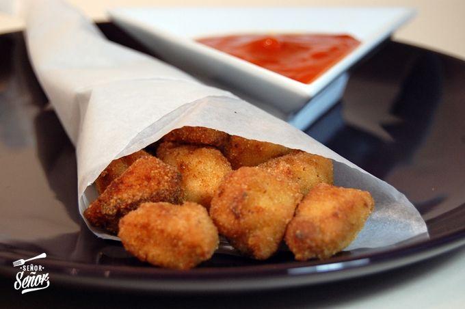 Palomitas de pollo o pops de pollo macerados en salsa de soja y naranja. Receta paso a paso