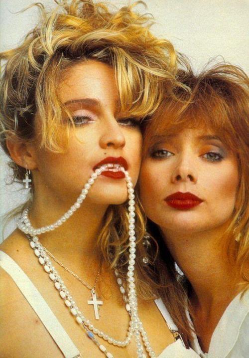 "Rosanna Arquette & Madonna, Desperately Seeking Susan (1985) 80""s  www.fashion.net"
