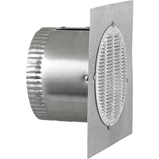 Lambro Ind. Bathroom Fan Eave Vent 142 Unit: Each, Silver aluminum