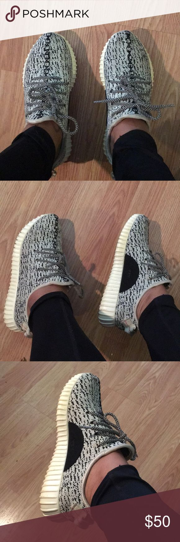 Adidas Boost Black & White Sneakers Not Authentic. Super Cute & Comfy ✨🌟 adidas Shoes Sneakers