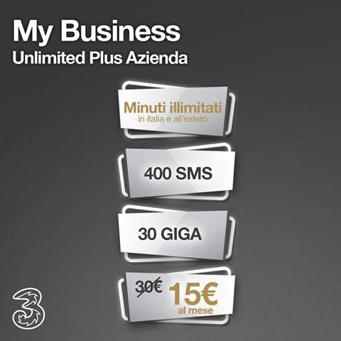 Per i tuoi viaggi d'affari, scegli il meglio di 3 con minuti illimitati e 30 GIGA con My Business Unlimited Plus Azienda chiamaci al numero 06 90289591   #3MyBusiness  #Tariffe #3Italia #Telefonia #Offerte #Smartphone #SMS #Internet #Promozioni #business #tre #aziende #pmi #iphone  #iphone7 #galaxys7edge #galaxys7  #whatsapp #wind