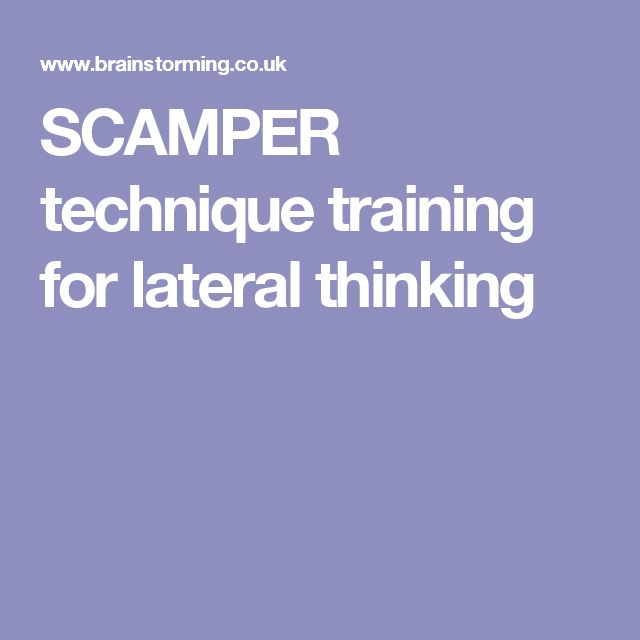 SCAMPER technique training for lateral thinking